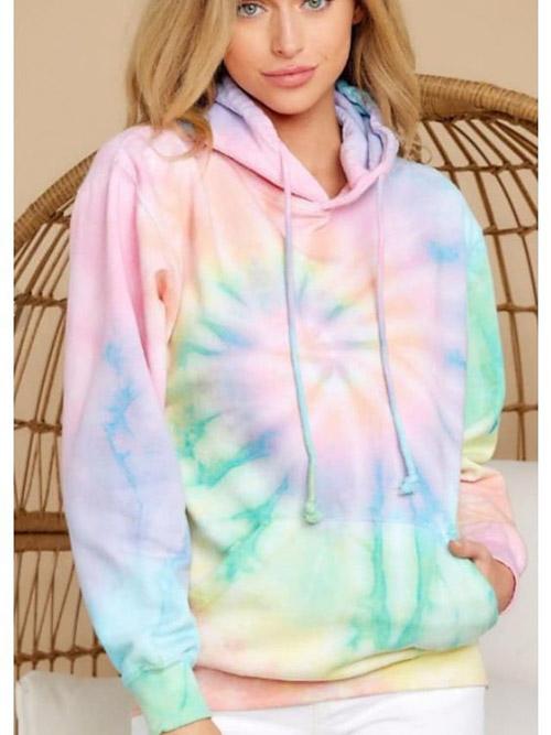 Tổng hợp 10+ mẫu áo hoodie loang màu độc đáo