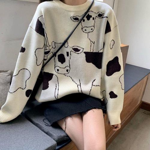 áo hoodie hoạ tiết bò sữa siêu đáng yêu