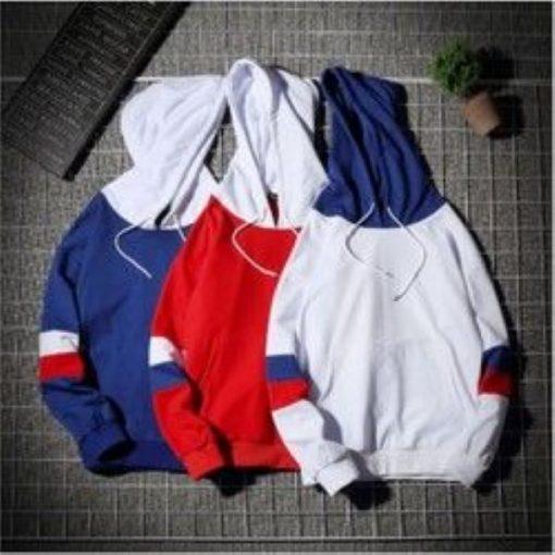 Áo hoodie nam in vòng tròn ở tay