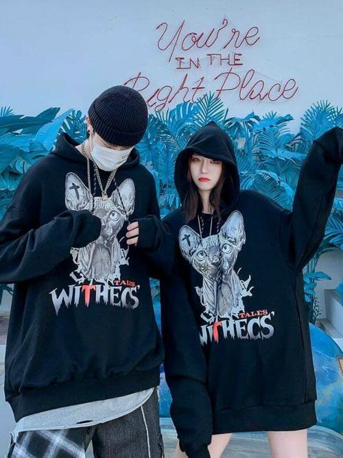 Áo hoodie chữ WITHECS siêu phong cách