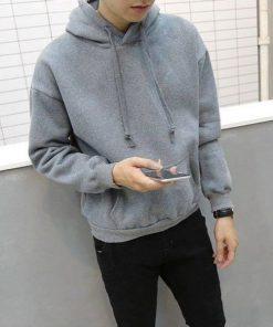 Áo hoodie trơn chất liệu vải thun nỉ mịn mà
