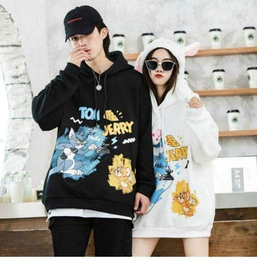 Áo khoác hoodie Tom & Jerry siêu đáng yêu dành cho các cặp đôi