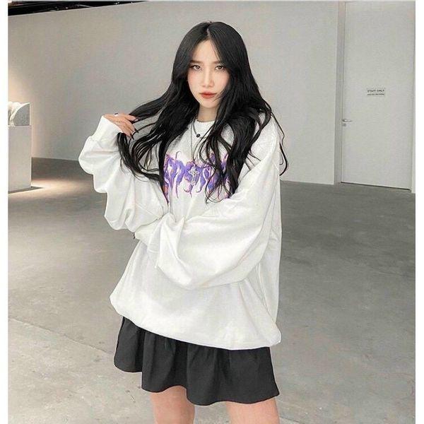 Áo sweater nữ in chữ cực ngầu và cá tính với chất liệu thun nỉ