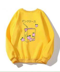 Áo sweater in hình cốc trà hoặc hộp sữa vải mềm mịn