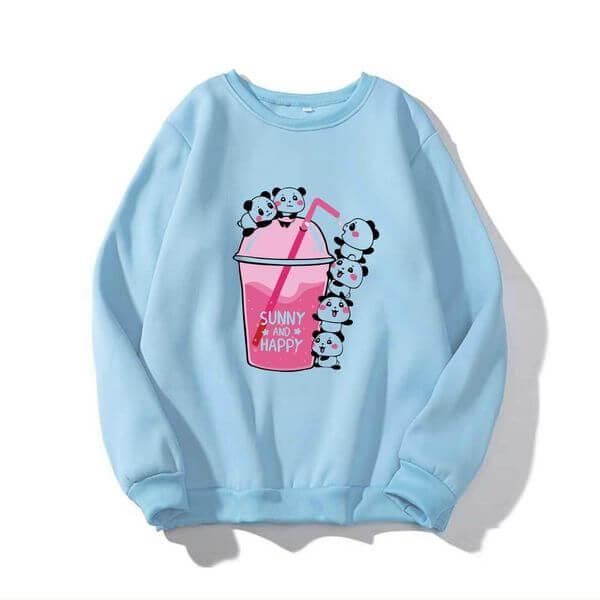 Áo sweater in hình ly cafe chất vải mềm mịn