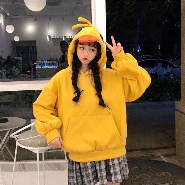Áo hoodie in hình đầu vịt cực cute dành cho các bạn nữ