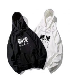Áo hoodie in chữ Hàn Quốc đơn giản, trẻ trung, năng động