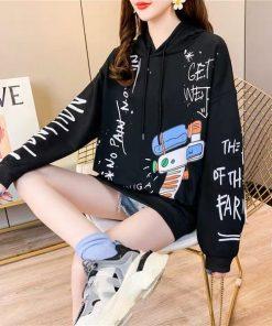 Áo hoodie in hình hoạt họa cây súng siêu cute phù hợp cho cả nam và nữ