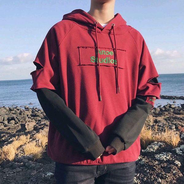 Áo hoodie tay áo rách dành cho nam cực ngầu cực phong cách
