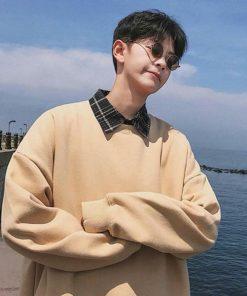 Áo sweater nam basic đơn giản chất vải mềm mịn thoáng mát