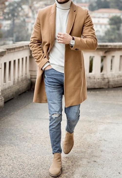 Chiếc sweater cổ cao luôn phù hợp với các outfits vào mùa đông