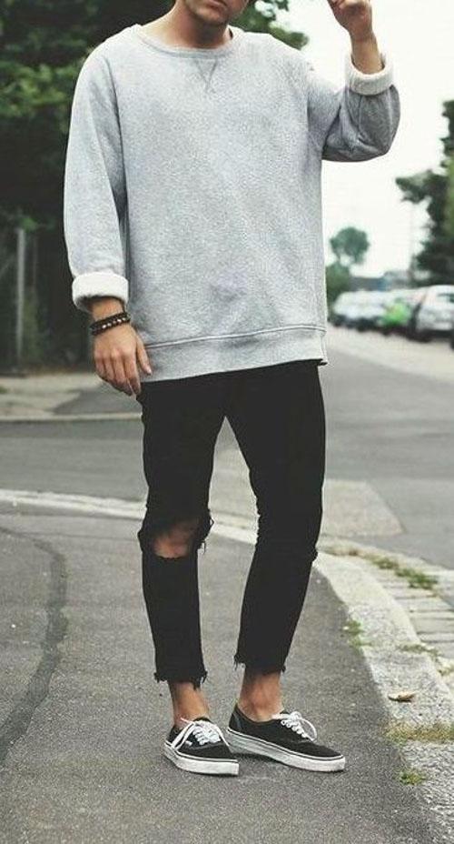 Một chiếc sweater form rộng phù hợp với mọi người