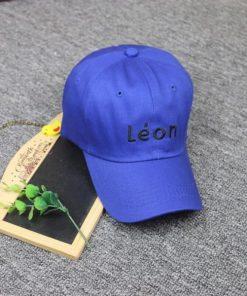 Nón lưỡi trai có logo thêu chữ Léon chất kaki cực đẹp