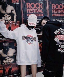Áo hoodie in chữ Genuine Raider kèm họa tiết đẹp mắt siêu phong cách cho giới trẻ
