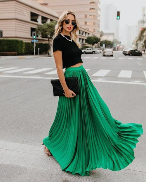 nếu bạn không có chiều cao thì không nên chọn những chiếc váy dài như thế này